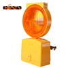 PC material road safety sign LED solar blinker light for traffic cone