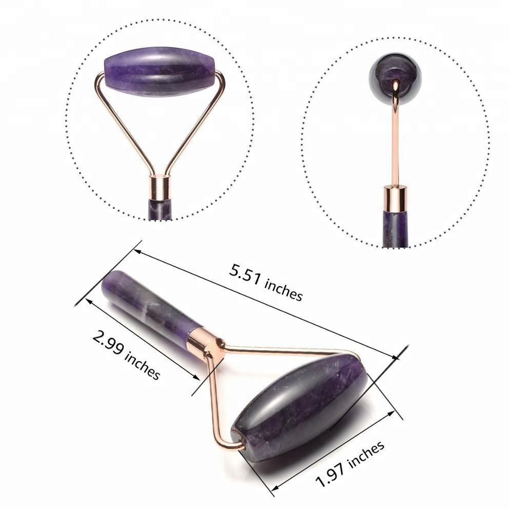 Natural Amethyst Face Facial Roller