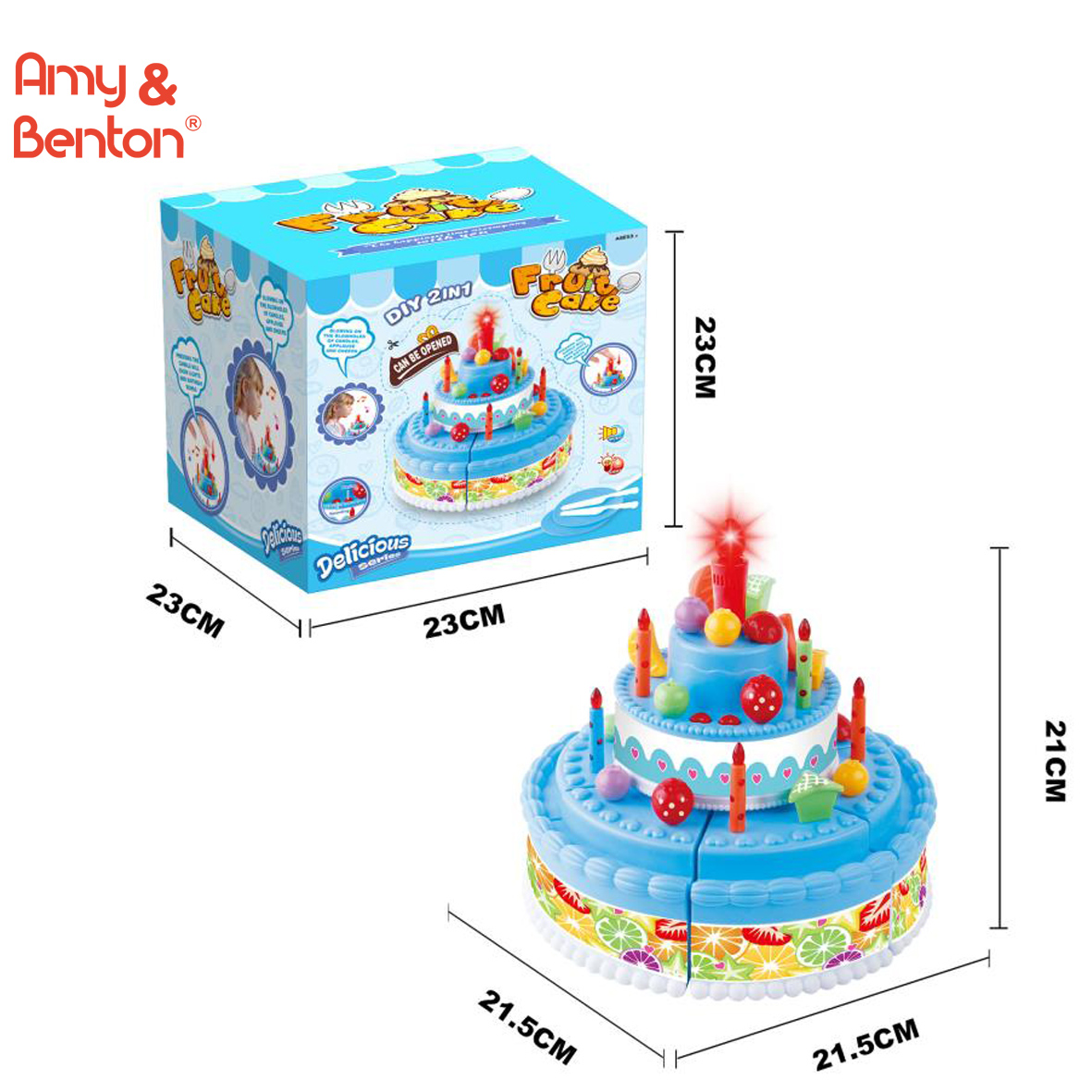 Kids Birthday Cake Toy For Baby Toddlers With Counting Candles And Music Best Gift Toys 1 5 Years Old Boys Girls