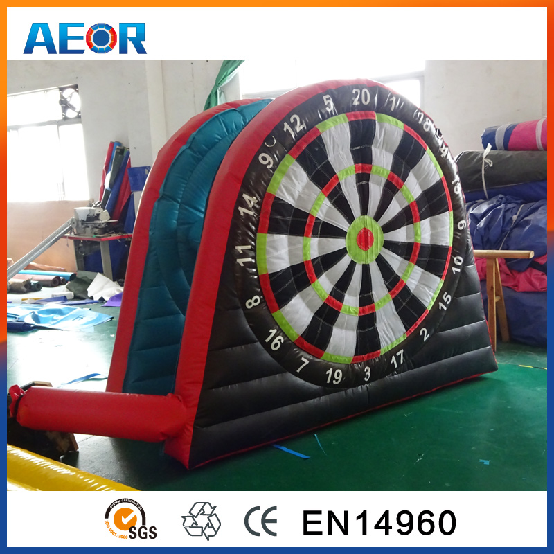Factory manufacture mini inflatable foot darts for sale,velcro soccer darts,inflatable dart game