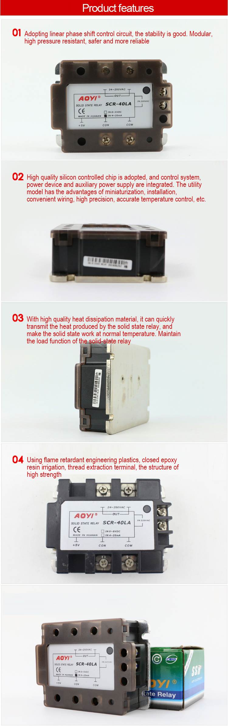 Hot Sale 0 5v Or 4 20ma Scr La Solid State Relays Buy Relayssolid Relay Vs