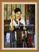 375g Pure Cotton buddha oil painting on canvas for exhibition layout