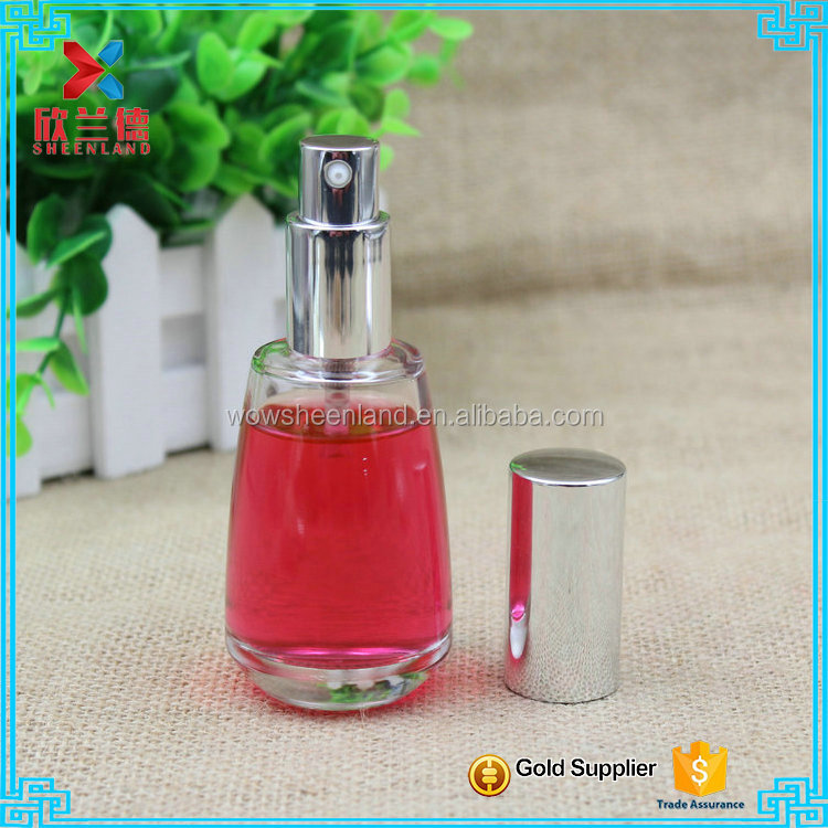 Travel Refillable Bottle Perfume Atomizer bottle with Aluminum cap 50ml