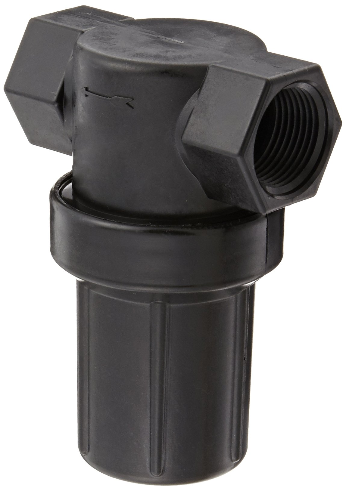 Banjo LSTM050-50C Polypropylene Mini T-Strainer with Clear Bowl 1//2 NPT Female 50 Mesh