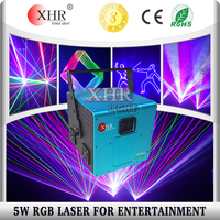 Guangzhou The Stage RGB Laser Show System ILDA Animation 5W Laser Light