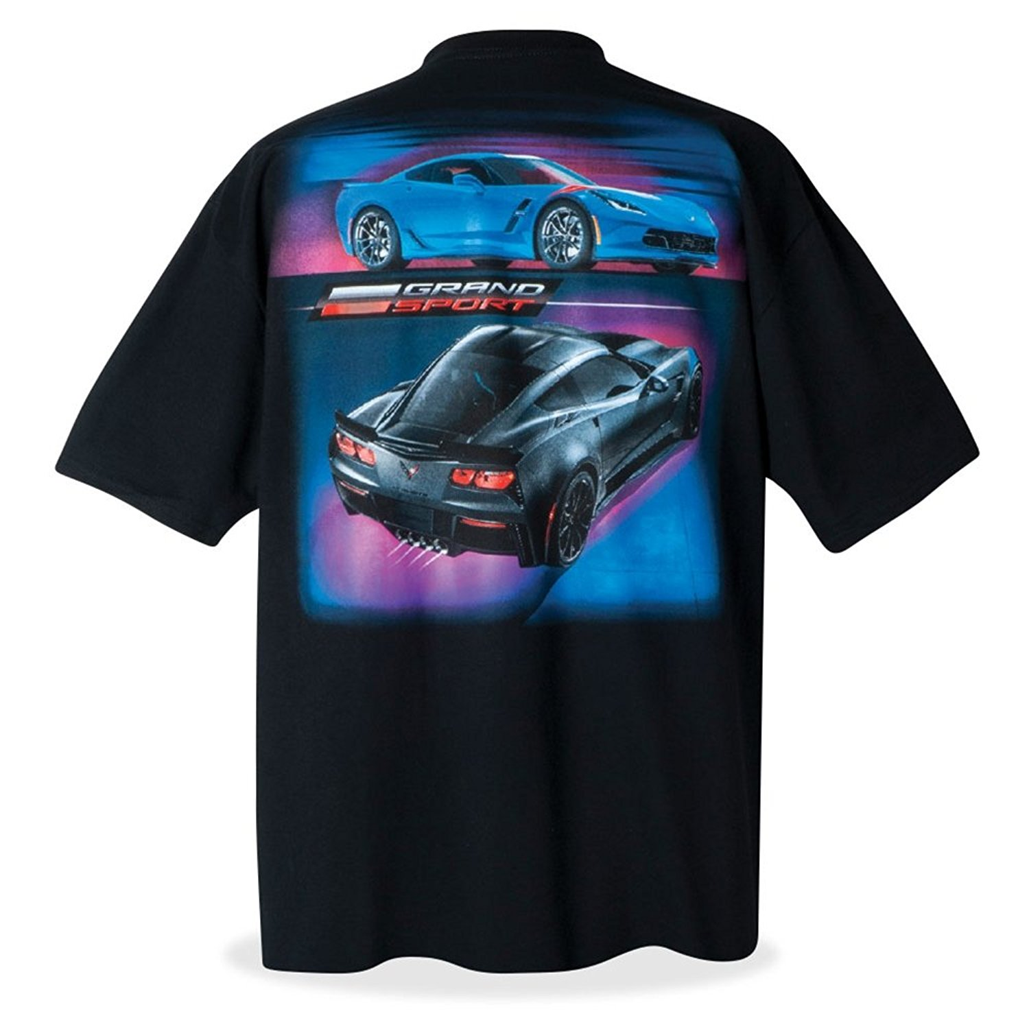 be03dacb8ac0e Get Quotations · West Coast Corvette   Camaro C7 Grand Sport Corvette  T-Shirt - Black