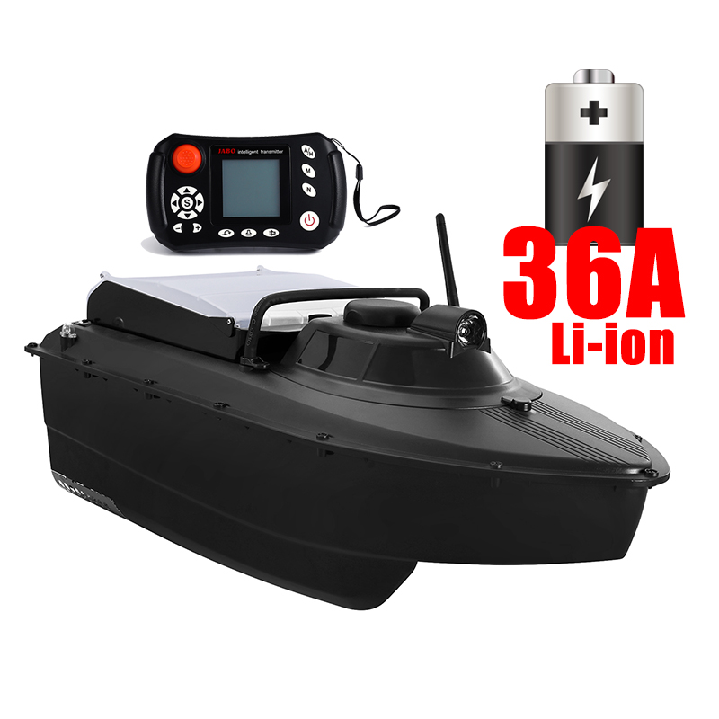 Free shipping jabo 2CG 36A lithium battery remote control rc long time distance abs hull fishing gps bait boat sonar fish finder, Black