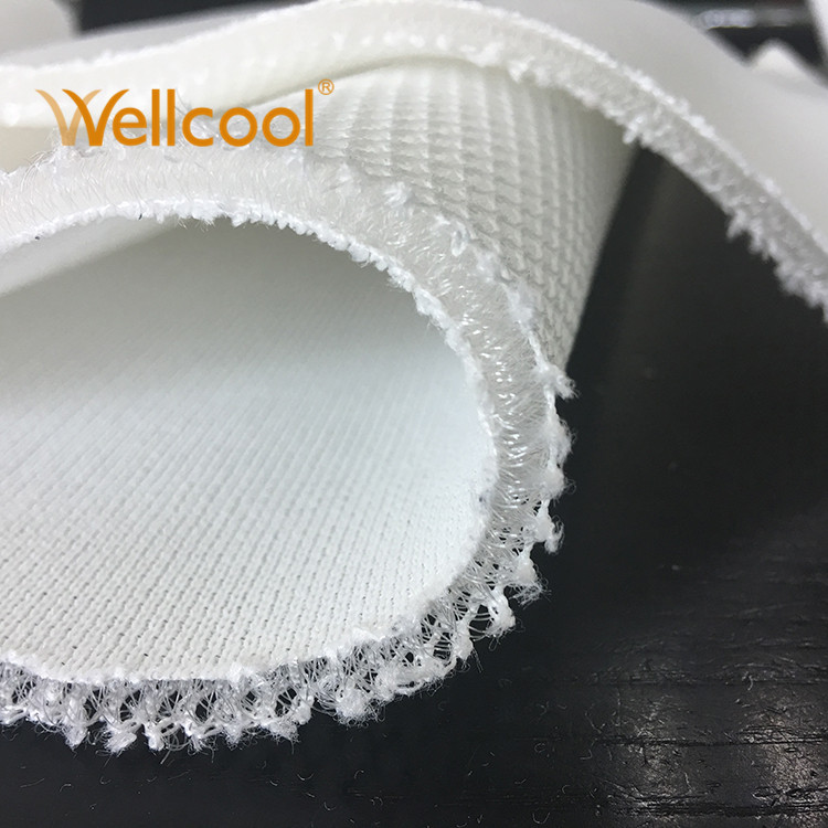 """Non bacteria 5~30mm thickness 205cm 80.7"""" width white 3D polyester air mesh fabric for mattress"""