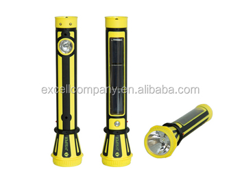 Solar Rechargeable Led Plastic Flashlight Torch