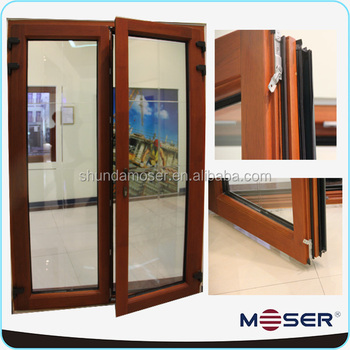 Solid wood double glass hinged french doors buy aluminum for Double hinged french doors