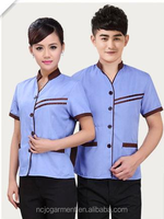 Cleaning service hotels overalls short-sleeved summer clothing cleaning staff cleaning rooms restaurant uniforms 100% polyester