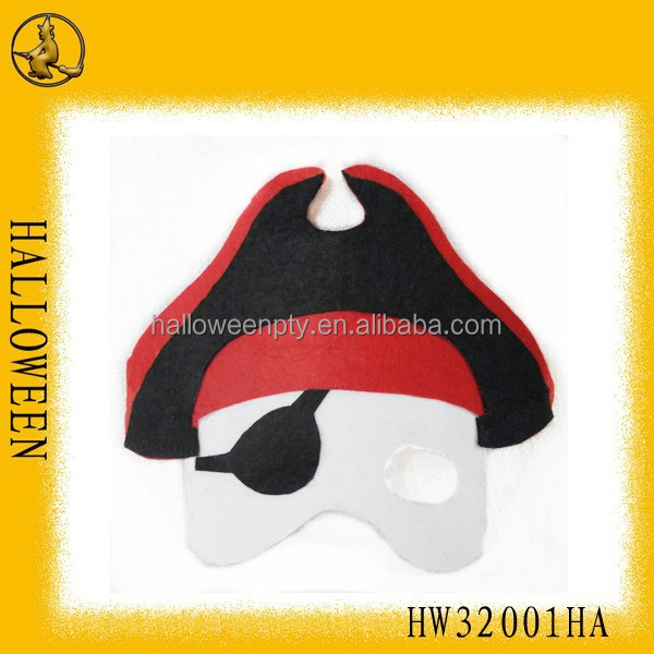 Cheap non-wolven halloween pirate mask