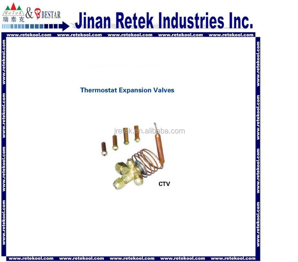 Refrigeration thermostat expansion velves with refrigerant R134A