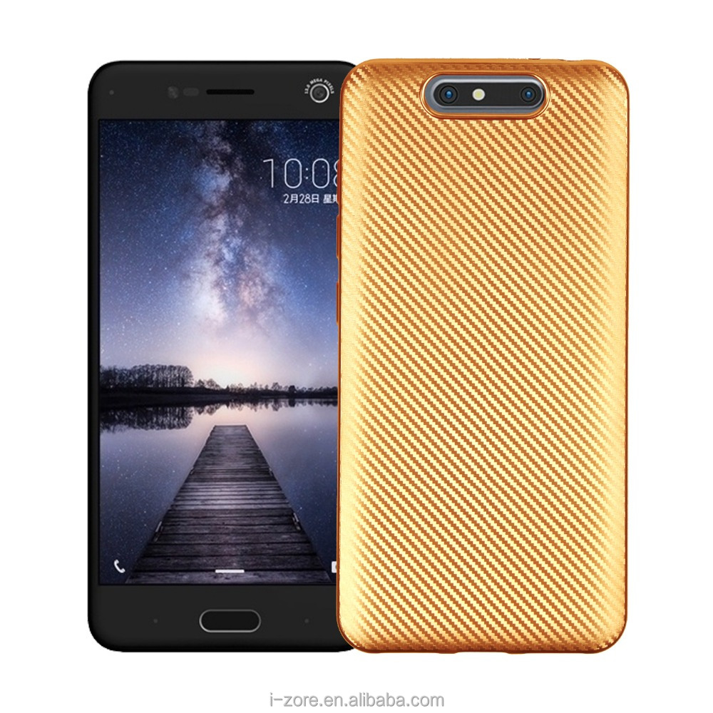 New Arrivals Shine TPU Carbon Fiber Case for ZTE Blade V8 Ultra Slim Cover