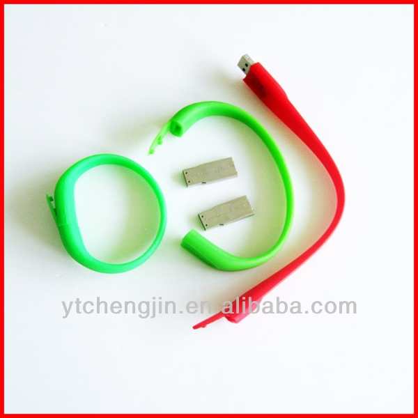 chinese made detachable silicone usb bracelets