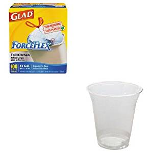 KITCOX70427SVARP18 - Value Kit - NatureHouse Corn Plastic Cup (SVARP18) and Glad ForceFlex Tall-Kitchen Drawstring Bags (COX70427)