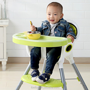 taizhou safty CE standard ajustable plastic rocking feeding chair infant dinner baby highchair