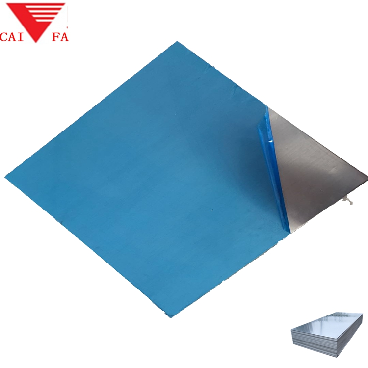 BEST Manufacture aluminum sheet with moisture barrier blue pvc one side