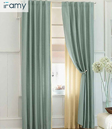 Romantic printed window decorative drape window curtains fabric for houses