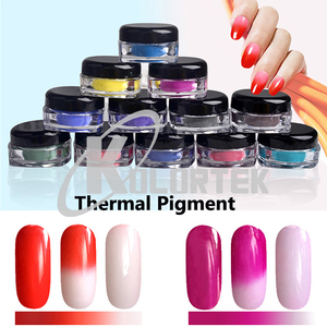 High performance nail polish pigment thermochromic pigment powder