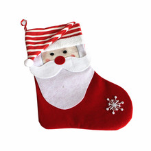 non-woven big size christmas sock decoration