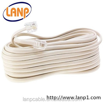 rj11 patch cord telephone cable with connectors