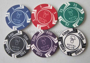 14 Gram Colorful Clay Poker Chips flash ink foam stamp personalized stamp