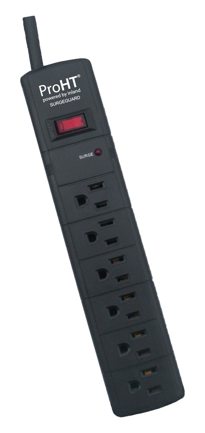 Inland 03984 6' Premium Surge Protector Bar - 6 Outlet