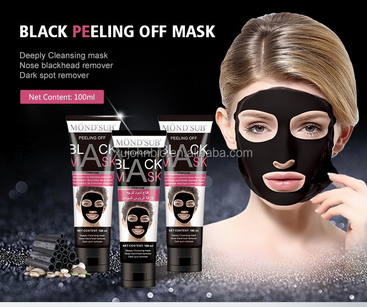 Private Label Skincare Deeply Cleansing And Nose Dark Spot Peeling Off Mask Skin Care Blackhead Remover