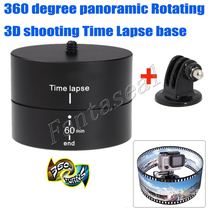 Professional GoPro 360 Degree Time Lapse Rotation Pan Timing Auto Rotation
