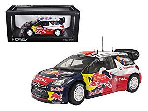 "Citroen DS3 #1 WRC World Champion Rally Great Britain 2011 Loeb/Elena ""Red Bull"" 1/18 Model Car by Norev"