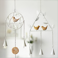 2018 wholesale metal hanging bird aeolian bells home accessories decoration items