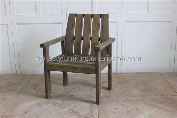 Madera de pino muebles de jardín al aire libre brazo Silla de ...