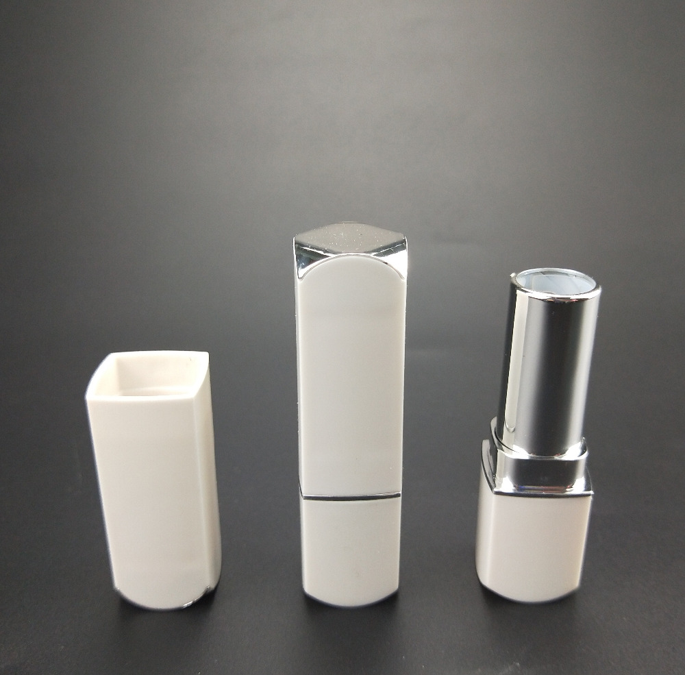 white square plastic electroplating empty lipstick tube