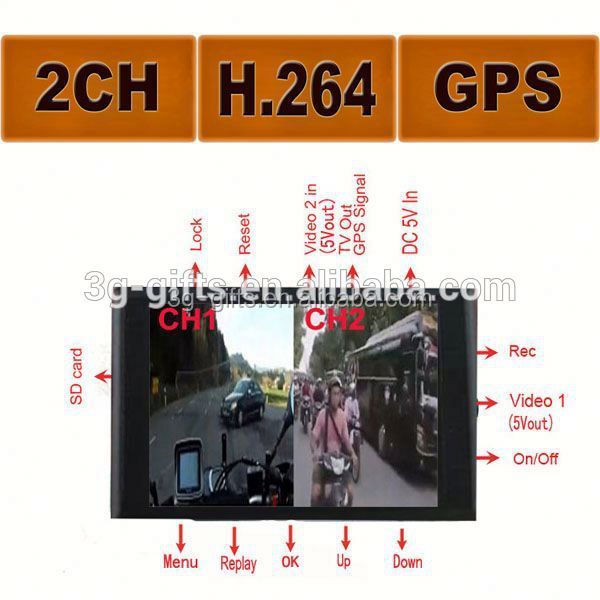 Cheap Separate DVR two cameras 2CH Car Camcorder Vehicle Video Recorder