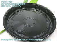 Newest Take Out Sushi Party Tray, Disposable Sushi Container EG-700R Black