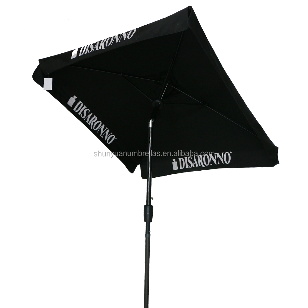 2M High quality black advertising promotion umbrella.