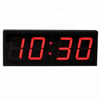 Made In Korea Remote Large Modern White Led Wall Clock Digital Alarm