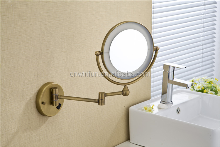 Spiegel Met Vergrootglas : Populaire messing badkamer spiegel badkamer vergrootglas make muur