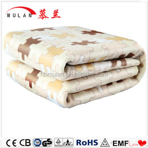 China factory wholesale flannel heating blanket