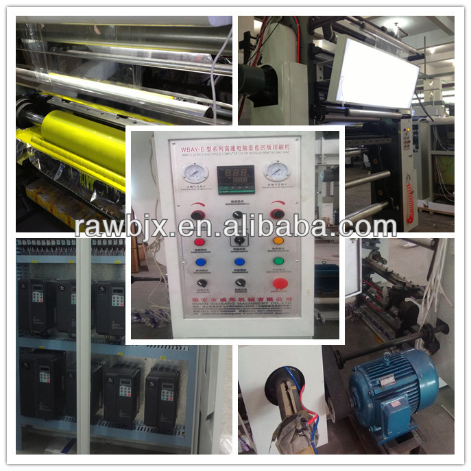 7 color plastic Factory Supplier Rotogravure Printing Machine