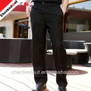 Promotion new arrival kitchen uniform black chef trouser hotel bar restaurant men suit design