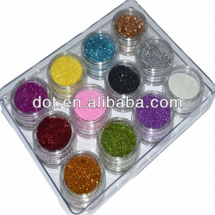 selling beautiful and good quality colored PVC Glitter