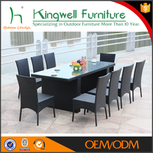 Durable dining tables.and chairs furniture of rattan