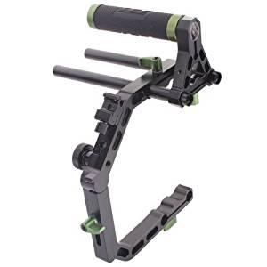 Sunwin Top Handle Grip+ C-shape Cage C Arm Support+ 2 x 15mm Rods DSLR Rig