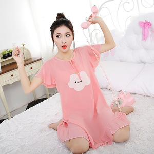 wholesale long women pajama dress with cotton nighty patterns the sleepwear 01073679e