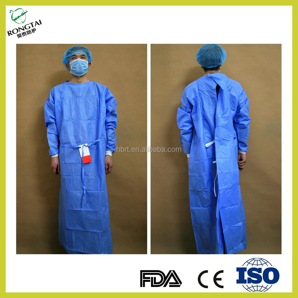 Disposable nonwoven SMMS sterile Surgical gowns for doctor hospital use