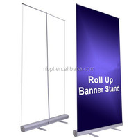 Professional Retractable Rollup Banner Stand Adjustable Trade Show Signage Display