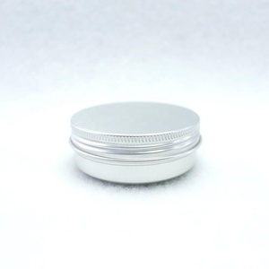 60ml round aluminum tin with screw lid for food AJ25E