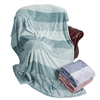 Reasonable price polyester yarn dyed solid thick flannel fleece blanket